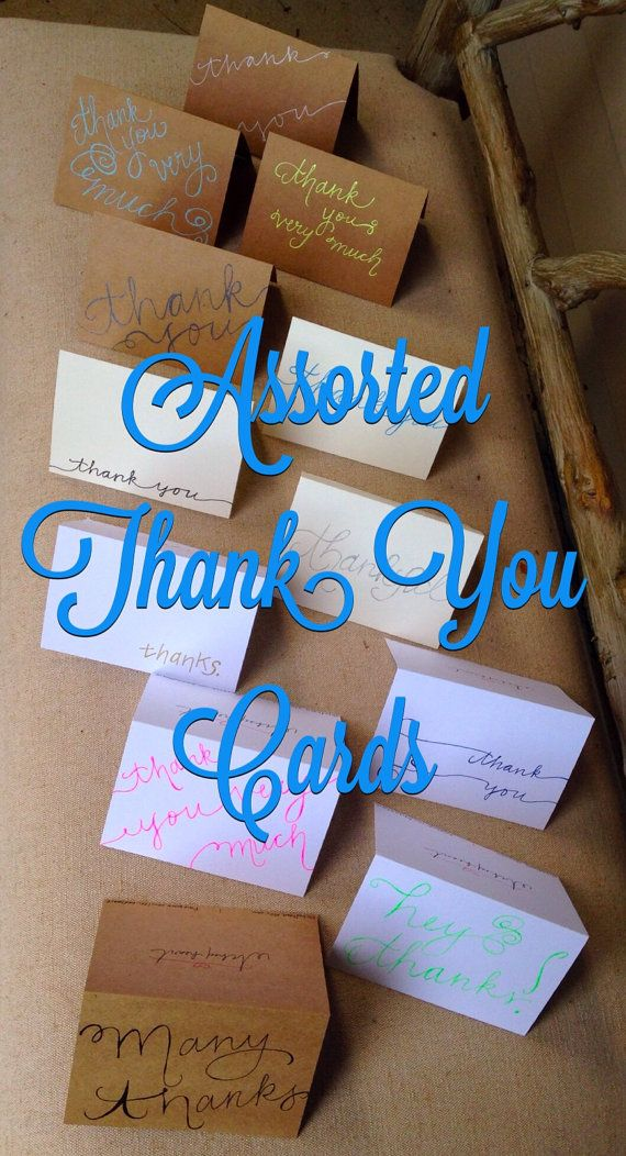 wedding thank you cards time limit%0A Assorted thank you cards  varying styles     styles    paper types  and