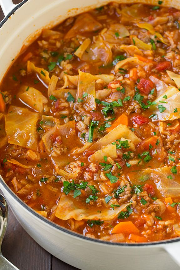 Cabbage Roll Soup - for my Polish boy - compare versions to the first pinned recipe. I pretty much wing it with soups! ;-)