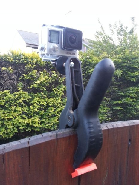 DIY GoPro Hero Hand Clamp Mount