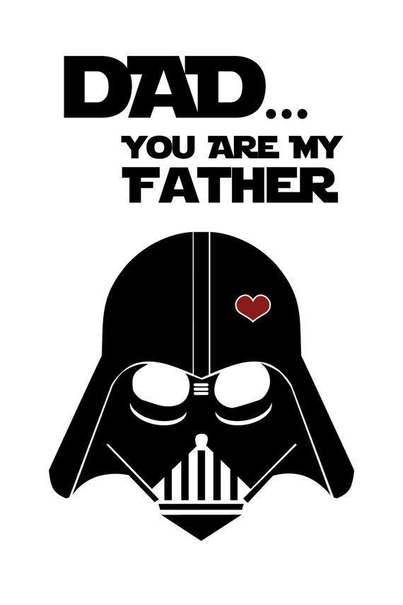 Tarjeta del día de Star Wars inspirado padre  imprimible