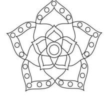 Rangoli Designs Flower Blossom And Coloring Pages On