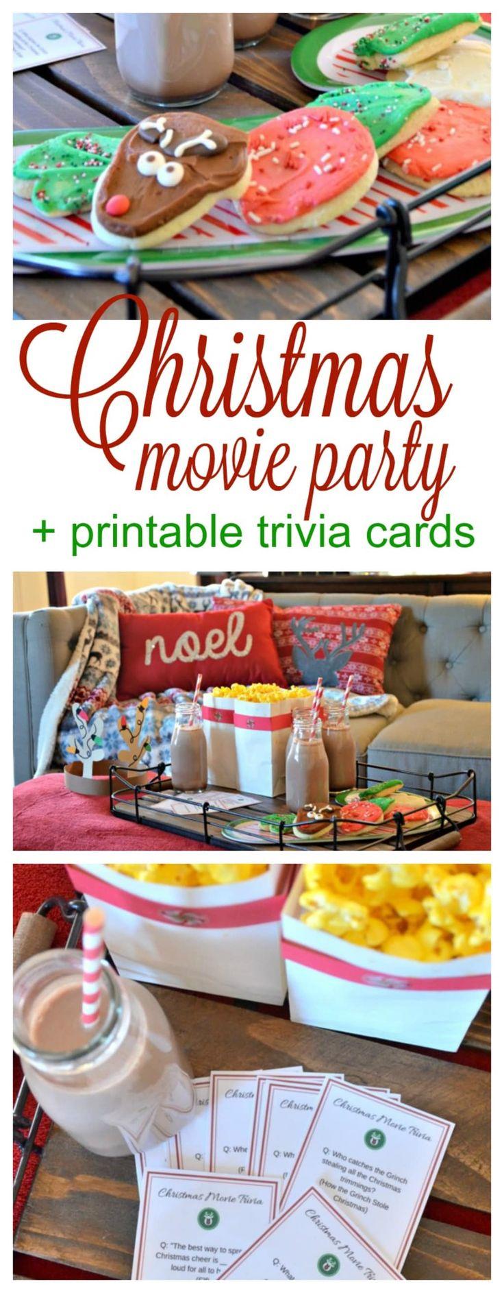 Christmas Movie Night + FREE Printable Movie Trivia Cards