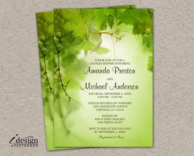 Wine Themed Wedding Shower Invitation