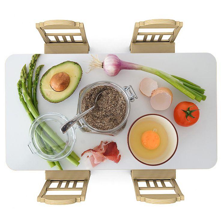Tafelsticker Ingrediënten | Maak je tafel persoonlijk met een fraaie sticker. De stickers zijn zowel mat als glanzend verkrijgbaar. Geschikt voor binnen EN buiten! #tafel #sticker #tafelsticker #uniek #persoonlijk #interieur #huisdecoratie #diy #persoonlijk #ingredienten #keuken #lekker #voedsel #eten #ei #prei #tomaat