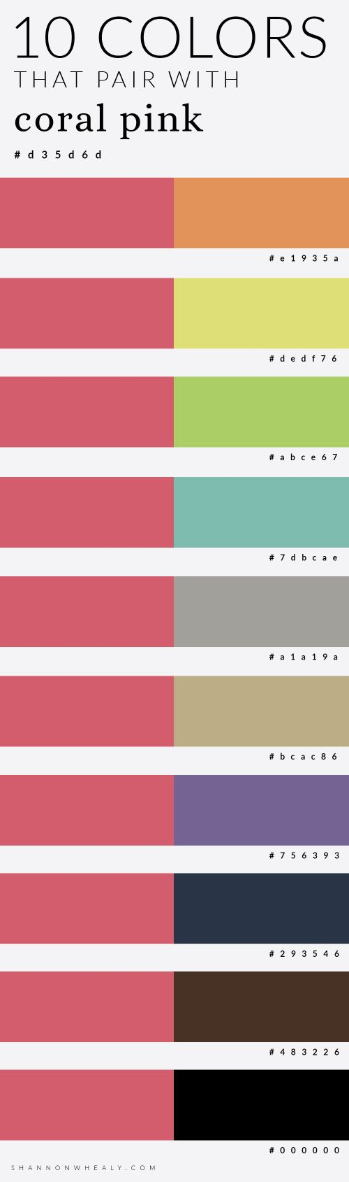 10 Colors That Pair with Coral Pink