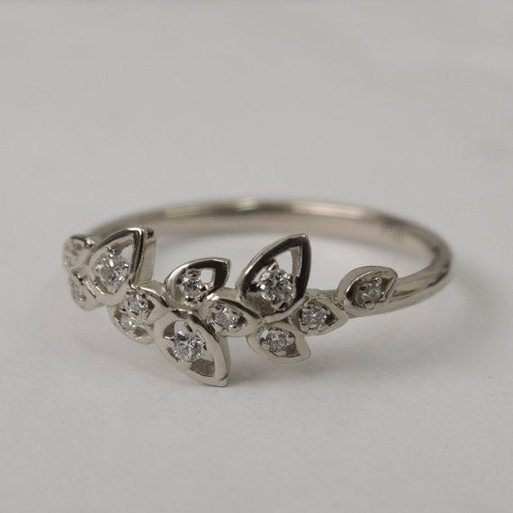 Hey, I found this really awesome Etsy listing at https://www.etsy.com/listing/198281941/leaves-engagement-ring-14k-white-gold