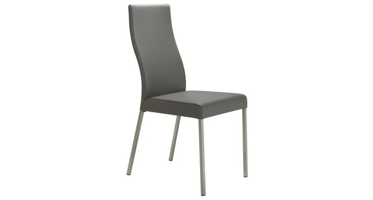 The Iva Real Leather Dining Chairs have shapely backs and well padded comfortable seats. It is available in genuine leather and in 4 modern colours. The squared, brushed metal legs enhance the modern style of this trendy Dining Chair. £129.00