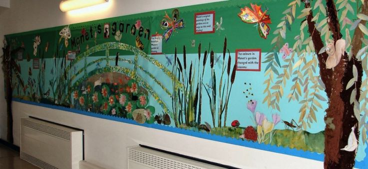 Claude Monet classroom display (Year 3 and Year 4)