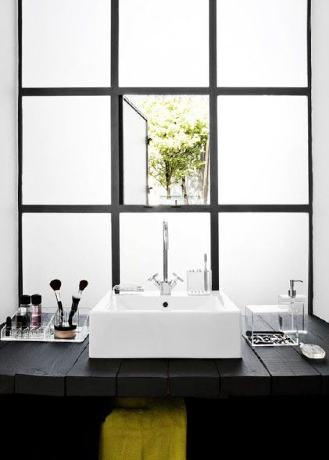 17 best images about d co salle de bain on pinterest bathrooms decor dec - Fenetre salle de bain opaque ...