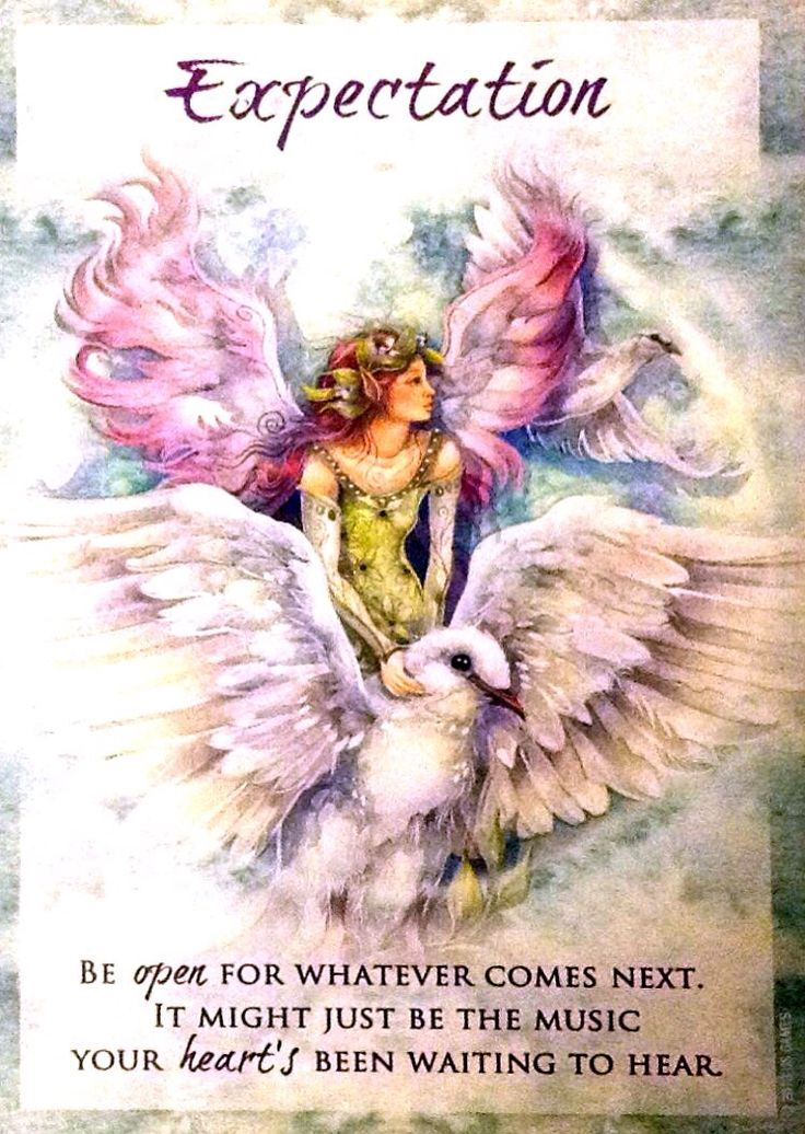 """Extra Card and message for Tuesday, March 8, 2016, New Moon Solar Eclipse in Pisces, from the Magical Times Empowerment deck by Jody Bergsma. The card: EXPECTATION- Be open for whatever comes next. It might just be the music your heart's been waiting to hear."""""""
