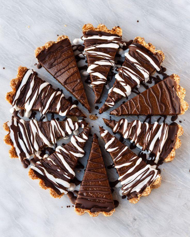 Chocolate Avocado Tart   Vegan, No Bake, and Gluten Free