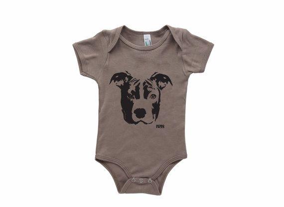Pit Bull Baby Organic Clothes PitBull Shirt by MONOFACESoCHILDREN