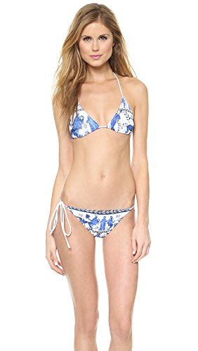 CLOVER CANYON Clover Canyon Women'S Corinthian Vase Bikini Top. #clovercanyon #cloth #