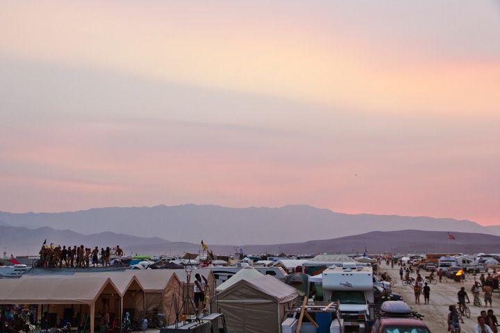 Sunset at Burning Man