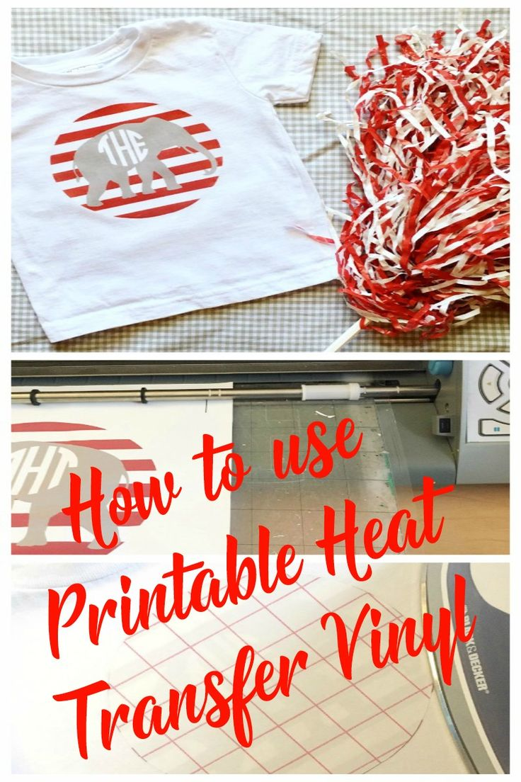 Slobbery image inside how to use printable heat transfer vinyl