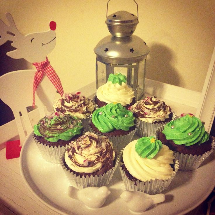 Christmas choc mint cupcakes by @stephabubbles