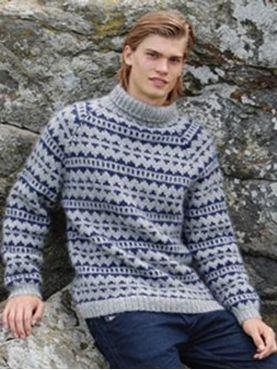 Billede af Retro Sweater model 3 - H-3003 - opskrift og garn