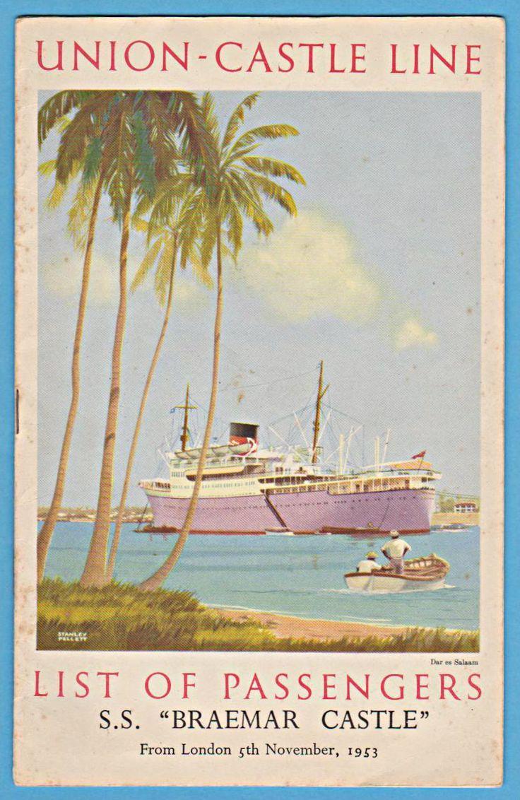 Union Castle SS Braemar Castle (at Dar es Salaam)