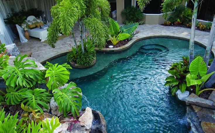 25+ idéias de design de jardim de piscina bonita   – Dream House