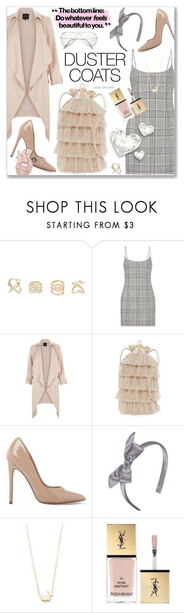 """""""Long Layers - Duster Coats: 02/09/17"""" by pinky-chocolatte ❤ liked on Polyvore featuring Charlotte Russe, Alexander Wang, New Look, Puma, Steve Madden, Forever 21, Ariel Gordon and Yves Saint Laurent"""