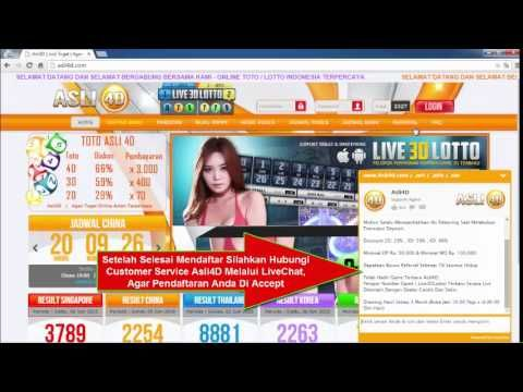 Cara Daftar Member Asli4D Togel 3D Number Game Indonesia
