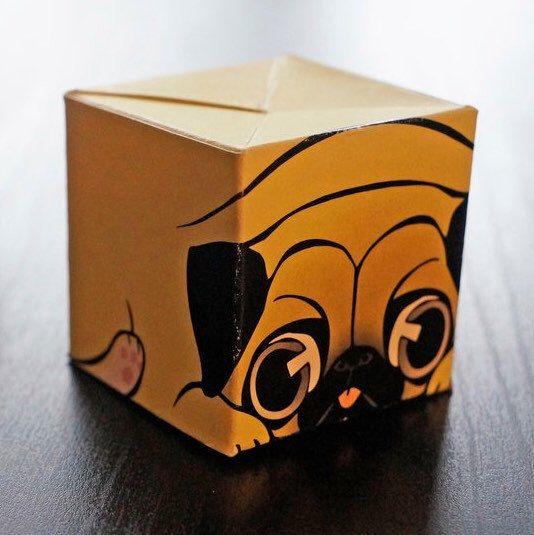 Pug Mug in a cube! Cubeecraft your chibby puppy :3