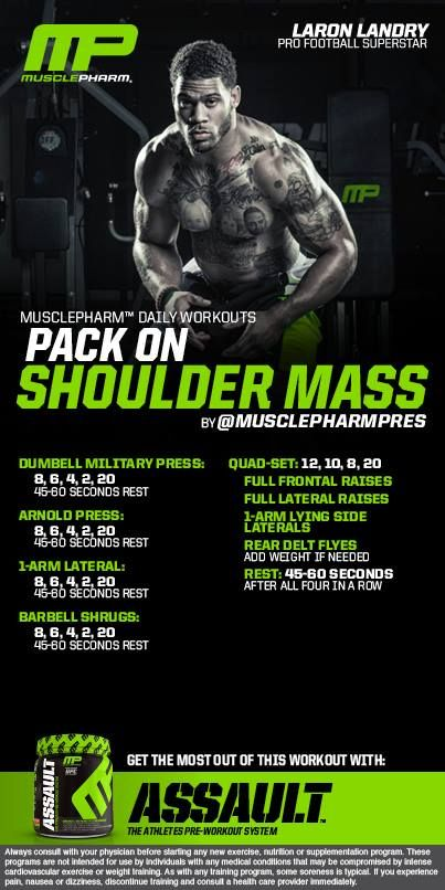 Pack on Shoulder Mass ...