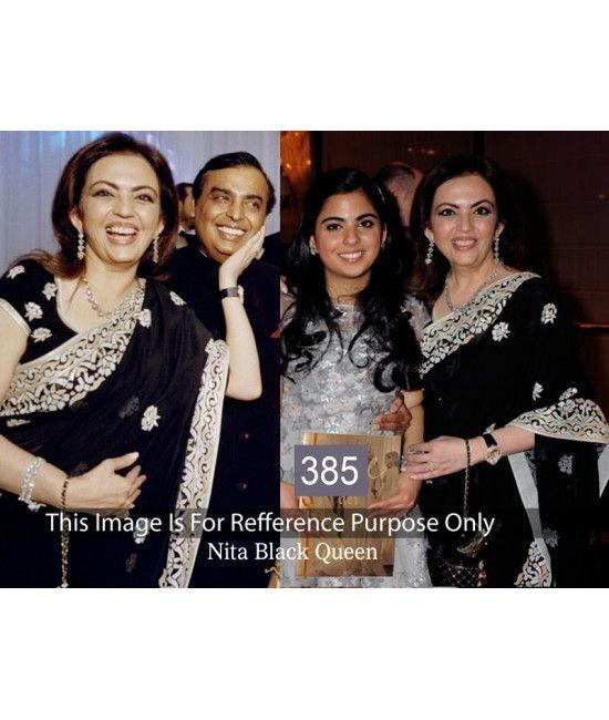 Bollywood Designer Nita Ambani Professional Black Saree