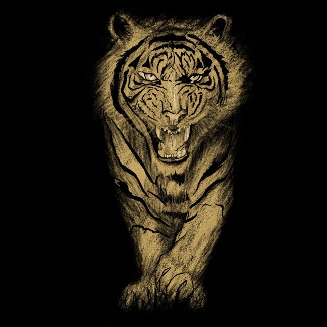 Tiger roar is a T Shirt designed by gupikus to illustrate your life and is available at Design By Humans