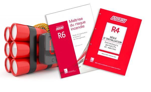 Référentiel APSAD R4 ! La règle R4 du CNPP est un référentiel d'installation sur la mise en conformité d'extincteurs d'incendie portatifs. Bien que non obligatoire cette règle reste une valeur sur en matières de référentiel d'installation d'extincteurs portatif chez le professionnel.  Il n'existe, à ce jour aucun ouvrage de meilleur qualité que ce référentiel d'installation..