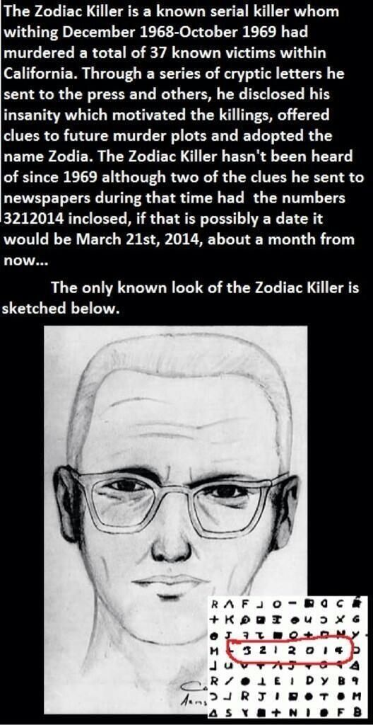 The Zodiac Killer is Si Robertson. I was with him watched him did stuff he called his thing. 1970-1983. Then  Someone in CIA hired him and covered his ass. Then Trum covers his ass and Phil covers his ass.