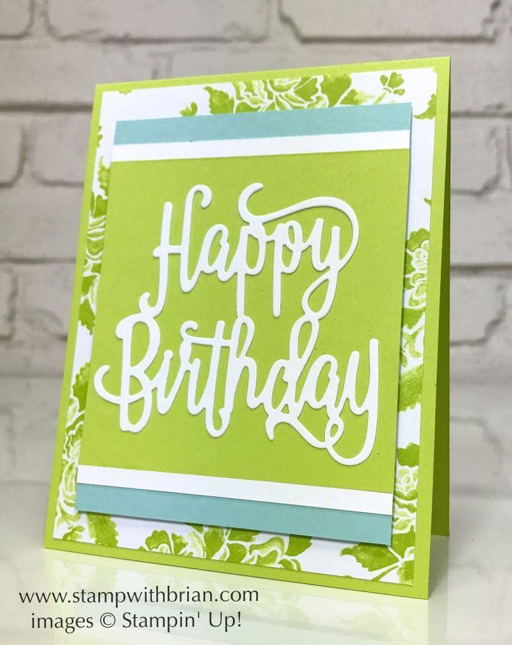 Happy Birthday Thinlits Die, Fresh Florals Designer Series Paper, Stampin' Up!, Brian King