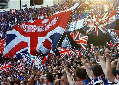 glasgow rangers fans in manchester