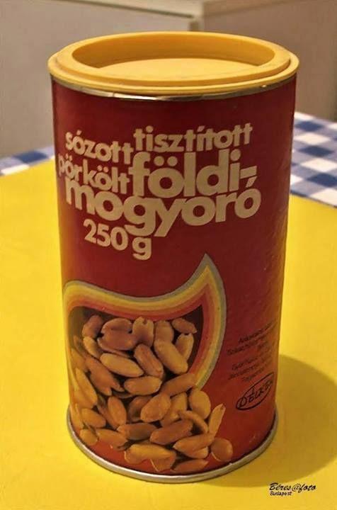 roasted, salted peanuts - Hungarian retro