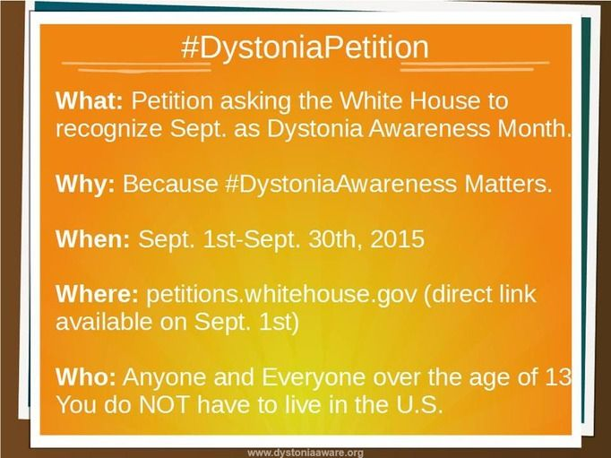 70 best Dystonia Petition images on Pinterest September, Anxiety - community petition
