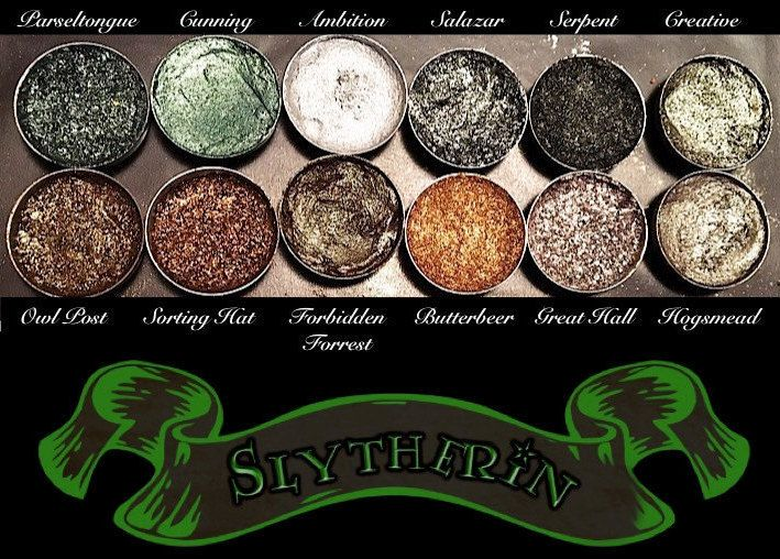 Slytherin House Eyeshadow Palette Vegan Harry by AWhimsicalWillow