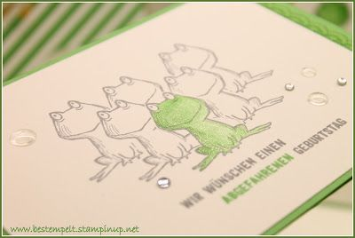 Stampin´Up! Love you lots, frog, masking