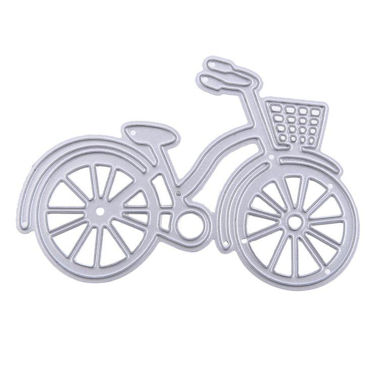 2016 1 unids Tarjeta De Papel de Metal de Bicicletas Bike Troqueles Stencil Para Tarjetas De Papel DIY Álbum de Recortes De acero Al Carbono en Troqueles de corte de Hogar y Jardín en AliExpress.com | Alibaba Group