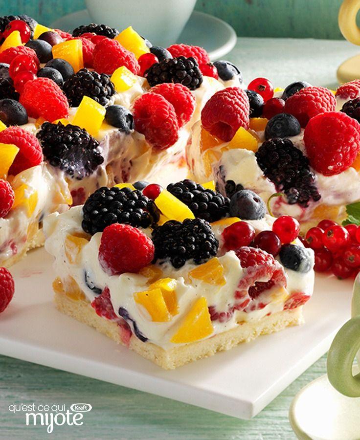 Dessert aux petits fruits et aux pêches pour le brunch #recette
