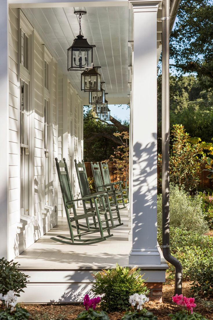 Narrow Porch Ideas Rocking Chairs