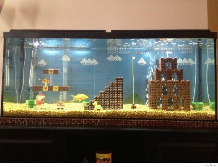 Mario Fish TankMario Fish, Videos Games, Fish Tanks, Supermario, Mario Brother, Fishtank, Mariobros, Mario Aquariums, Super Mario Bros