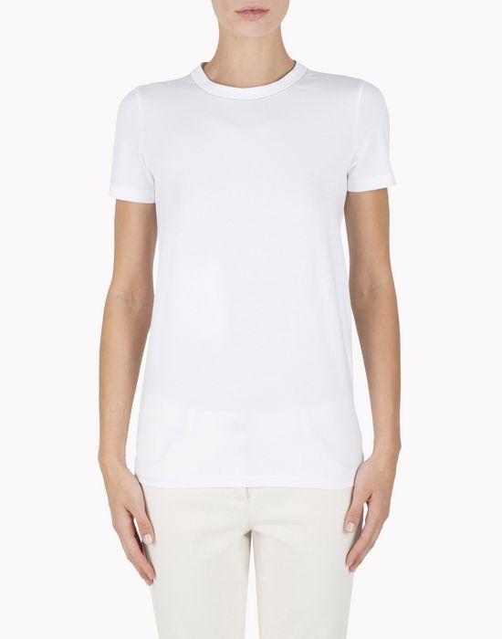 T Shirt In Jersey Di Cotone Stretch Con Dettaglio In Monile. T Shirt 270-190 e Maniche Corte Brunello Cucinelli Donna su Brunello Cucinelli Online Boutique. Spedizione in tutto il mondo.