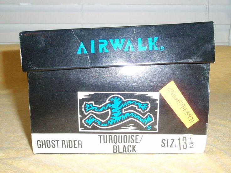 Vintage 1990's Airwalk Ghost Rider Turq Blk Boy 13 5 Sk8 BMX Shoes | eBay