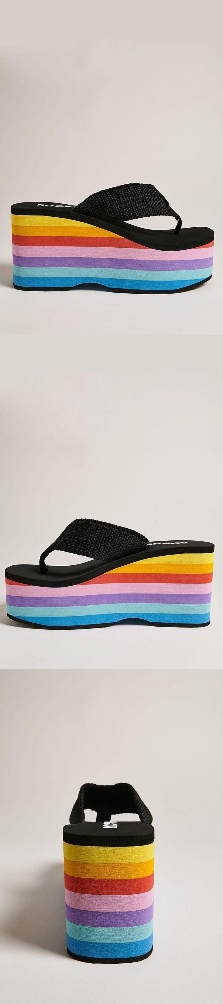 Rocket Dog Rainbow Platform Sandals // 38.00 USD // Forever 21