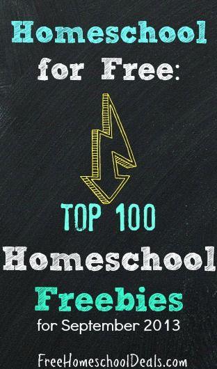 #Homeschool for Free: Top 100 Homeschool Freebies for September 2013