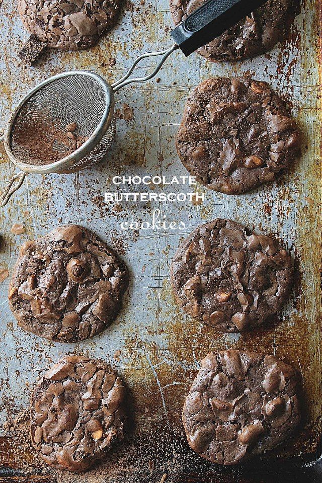 Chocolate Butterscotch Cookies www.diethood.com