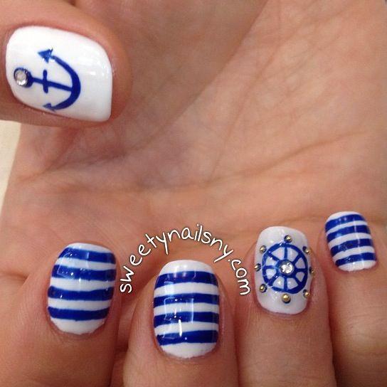 Nautical Nail Design Images: Summer nail designs to have nautical ...