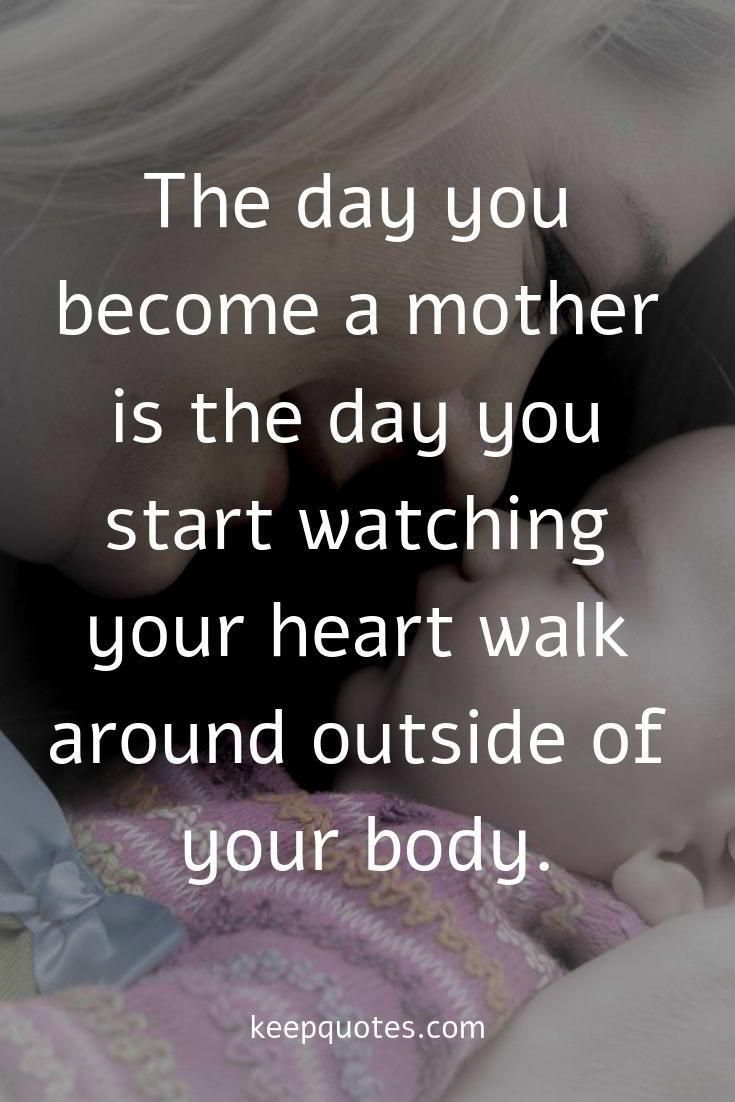 The Day You Become A Mother Is The Day You Start Quotes About