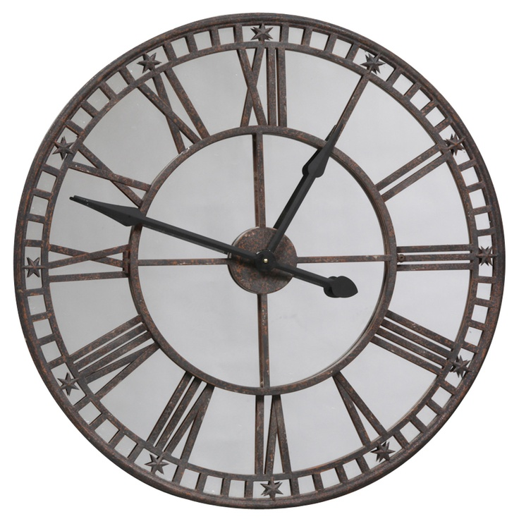 Large Mirrored Wall Clock 41 best mirrors images on pinterest | wall clocks, clocks and mirrors