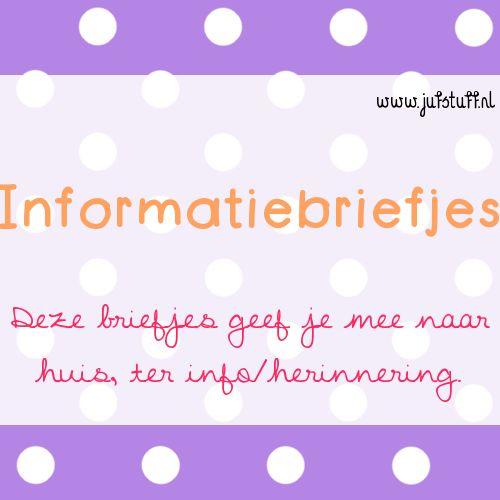 Juf-Stuff: Informatiebriefjes ouders